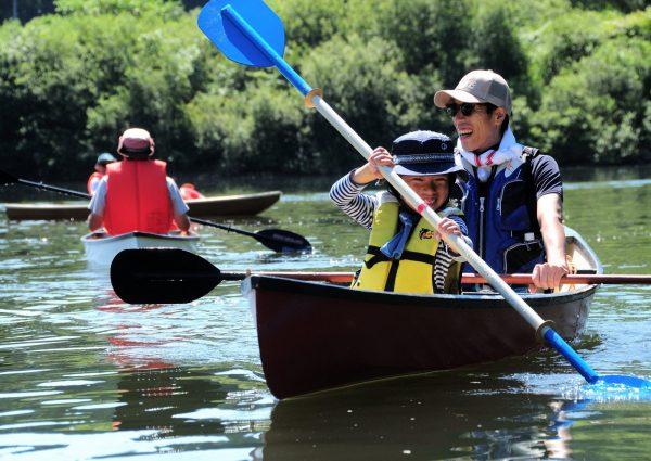 Canoeing in the Yoneshiro River