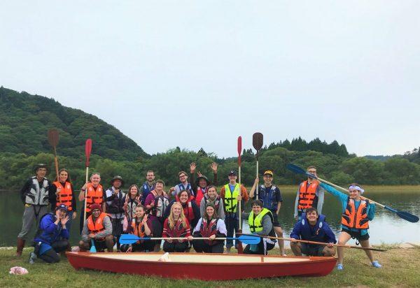 Local English teachers on a canoe tour.