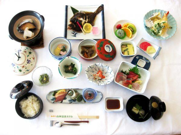 Akita Shirakami Onsen Hotel dinner.
