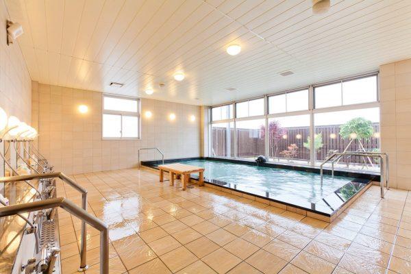 Akita Shirakami Onsen Hotel communal bath.