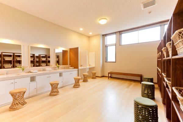 Akita Shirakami Onsen Hotel changing room.