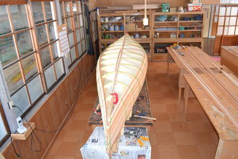 Canoe building.