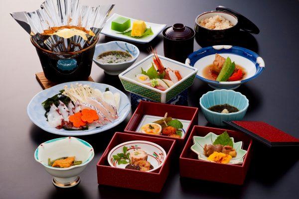 Akita Shirakami Onsen Hotel meal.