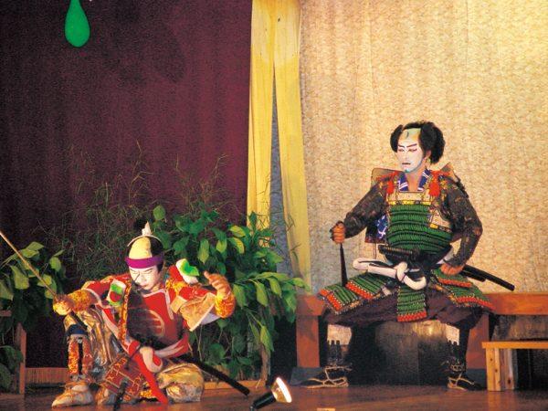 Locals performing kabuki.