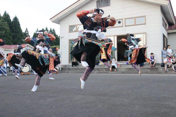 Locals dance the Koma-Odori dance in Fujisato.