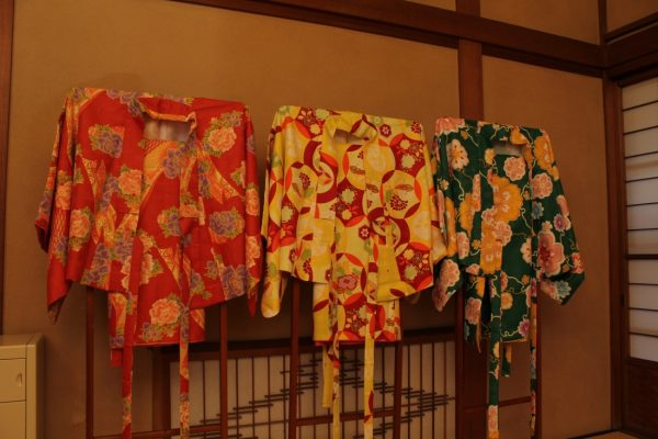 Visitors can choose from a selection of kimonos.