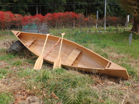 Canoe handmade with Akita cedar.