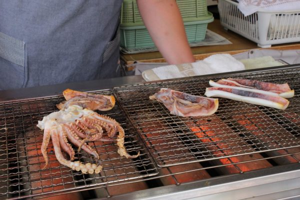 Squid on the grill.