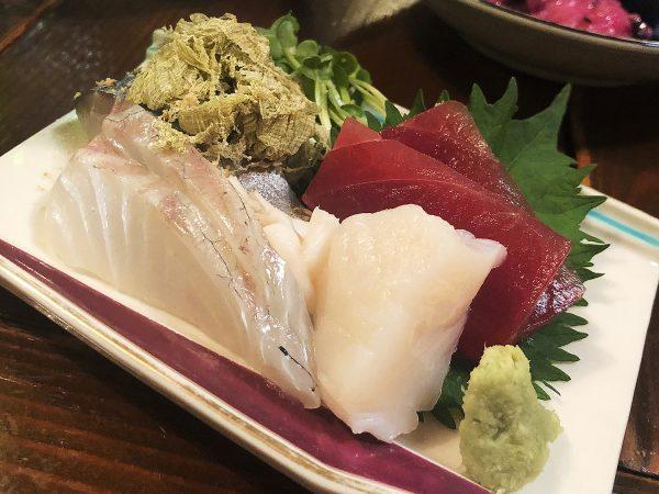 Fresh sashimi.