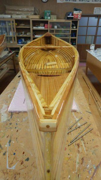 Canoe built with Akita cedar.